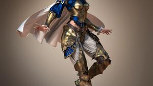 Artwork Simple Background Women Fantasy Art Fantasy Girl Fantasy Armor Armor Armored Looking At View 2755x3220 wallpaper