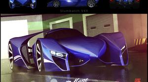 Artistic Blue Car 2500x1740 Wallpaper