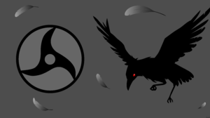 Artistic Crow Feather Mangeky Sharingan Minimalist Sharingan Naruto Vector 8500x4500 Wallpaper