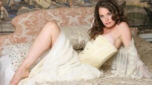 Actress Brunette Blue Eyes 4368x2912 Wallpaper