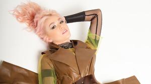Actress American Lying Down Pink Hair 3840x2160 Wallpaper