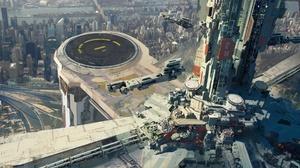 Building City Cityscape Futuristic 1920x1080 wallpaper