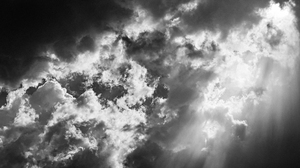 Clouds Nature Photography Monochrome Sun Rays 6016x3384 Wallpaper