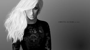 Artistic Black Amp White Blonde Christina Aguilera Girl Singer Woman 4000x2250 Wallpaper