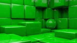 3d Ball Cgi Cube Digital Art Green 1920x1080 wallpaper