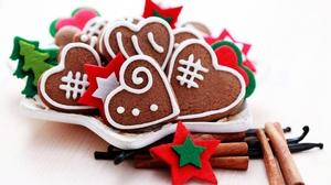 Christmas Cinnamon Cookie Gingerbread 2560x1600 Wallpaper