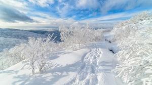 Snow Cloud Russia 2996x2000 Wallpaper