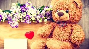 Flower Stuffed Animal Teddy Bear 5436x3678 Wallpaper