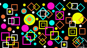 Abstract Colorful Colors Digital Art Geometry Shapes 1920x1080 Wallpaper