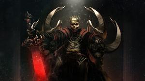 Crown Skull Sword Warrior 3508x2000 Wallpaper