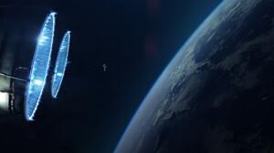Artwork Space Spaceship Planes Astronaut 1920x1200 Wallpaper