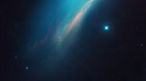 Space Galaxy Nebula Milky Way Andromeda Stars Plasma Moonlight Smoke 5120x2880 Wallpaper