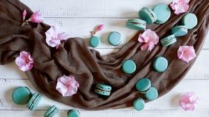 Flower Macaron Sweets 6720x4480 Wallpaper