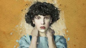 Eleven Portrait Curly Hair Short Hair Paint Splatter Brown Eyes Yellow Background Stranger Things Ne 1920x1080 Wallpaper