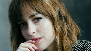 Actress American Blue Eyes Brunette Dakota Johnson Face Lipstick 3000x2645 wallpaper