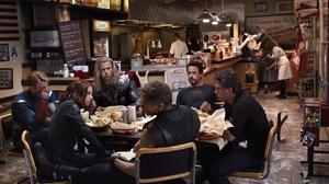 Tony Stark Steve Rogers Thor Bruce Banner Black Widow The Avengers Iron Man Captain America Hulk Sca 1676x942 Wallpaper
