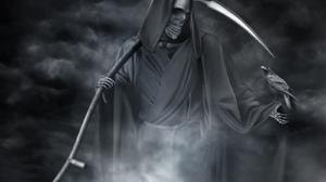 Crow Death Grim Reaper Scythe Skeleton 1600x1200 Wallpaper