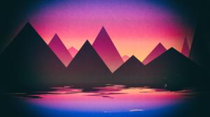 OutRun Retrowave Synthwave Purple Purple Background Pink Pink Background Minimalism Digital Art Simp 3840x2160 wallpaper