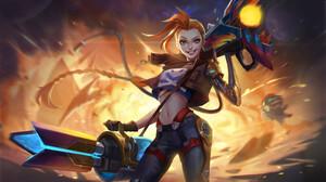 Jinx League Of Legends League Of Legends Woman Warrior 3840x2180 Wallpaper