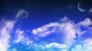 Cloud Moon Blue 3840x2160 Wallpaper