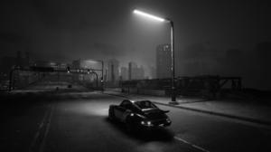 Cyberpunk 2077 Johnny Silverhand Car Porsche 911 GTR RS Video Games Monochrome Panam Palmer 1920x1080 wallpaper