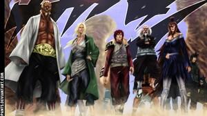 Naruto Shippuuden Tsunade Gaara Mei Terumi Tsuchikage Raikage Anime 1998x1400 Wallpaper