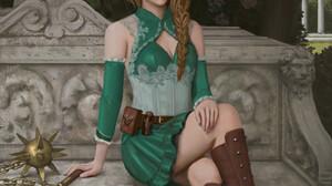 Chiral Digital Art Artwork Digital Painting Women Green Clothing Boots 1726x2200 Wallpaper