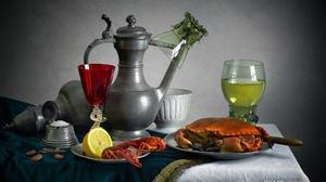 Crab Lemon Wine 2000x1333 Wallpaper