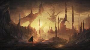 Fantasy Knight 2100x1080 wallpaper