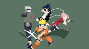 Kakashi Hatake Naruto Uzumaki Sakura Haruno Sasuke Uchiha 4763x2977 Wallpaper