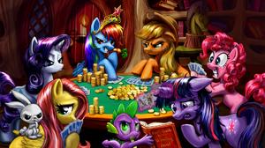 Angel Bunny Applejack My Little Pony Fluttershy My Little Pony My Little Pony Pinkie Pie Rainbow Das 1920x1080 Wallpaper