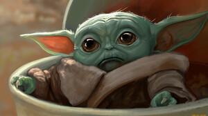 The Mandalorian Artwork Science Fiction Baby Yoda 1920x1080 Wallpaper