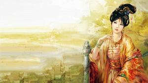 Asian Black Hair Fantasy Girl Kimono Oriental Woman 1920x1158 Wallpaper