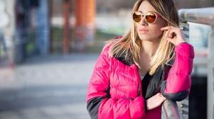 Blonde Depth Of Field Girl Model Sunglasses Woman 5568x3712 Wallpaper