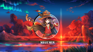 Megumin KonoSuba Anime Girls Waifu2x Landscape 3414x1925 Wallpaper