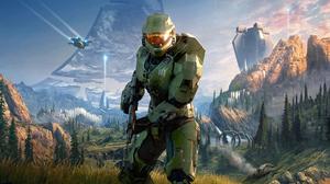 Halo Halo Infinite Master Chief 3724x1862 Wallpaper