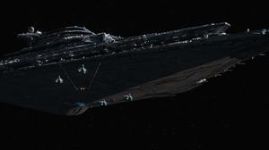 Star Destroyer Star Wars Star Wars Episode Vii The Force Awakens 3236x1356 Wallpaper