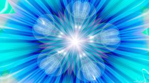 Abstract Artistic Blue Digital Art Gradient Kaleidoscope Pattern 1920x1080 Wallpaper