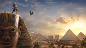 Bayek Of Siwa Sphinx Pyramid 1920x1080 Wallpaper