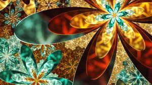 Abstract Artistic Colors Digital Art Flower Fractal 2560x1440 Wallpaper