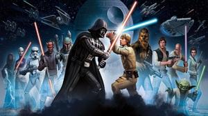 Boba Fett Chewbacca Darth Maul Darth Sidious Darth Vader Death Star Han Solo Luke Skywalker Mace Win 1920x1080 Wallpaper