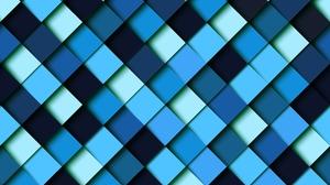Artistic Blue Geometry Pattern Square 6000x4805 Wallpaper