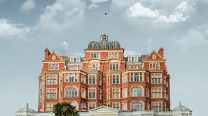 Hotel England Building Clouds 5360x4306 Wallpaper