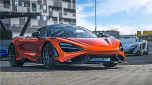 McLaren 765LT McLaren Supercars Sports Car Car Vehicle Orange Cars Depth Of Field 2560x1440 wallpaper
