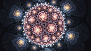 Artistic Digital Art Flower Fractal 1920x1080 Wallpaper