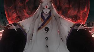 Kaguya Tsutsuki Girl Long Hair White Hair 3927x3046 Wallpaper