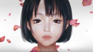 Asian Cute Face Girl Petal 1920x1080 Wallpaper