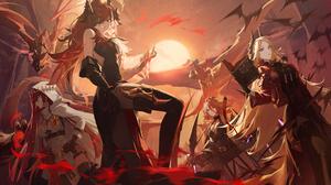 Anime Anime Girls Horns Dragon Fantasy Girl Jeonghee Alchemy Stars 3840x2160 Wallpaper