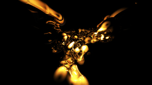 Abstract Artistic Cgi Colors Gold Pattern Shapes Texture 1600x1200 wallpaper