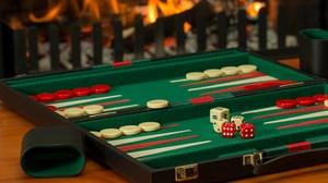 Backgammon Board Game Dice Fireplace 5472x3648 Wallpaper